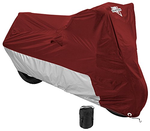 (Nelson-Rigg MC-903-05-XX Deluxe Motorcycle Cover, Weather Protection, UV, Air Vents, Heat Shield, Windshield Liner, Compression Bag, Grommets XX-Large fits Touring Motorcycles, also Large Cruisers and Adventure Motorcycles W/ Saddlebags & Top Trunk )