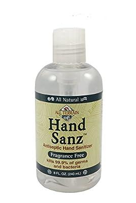 All Terrain Fragrance-Free Hand Sanitizer 8oz Moisturizing Hand Sanitizing Gel, Carbomer-free, Safe Antiseptic Protection, Won't Dry Hands
