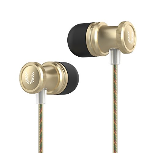 Uiisii US80 in Ear Headphones Sport Earbuds with Mic Stereo Bass 3.5mm Jack for Apple iOS and Android Smartphones PC Tablet