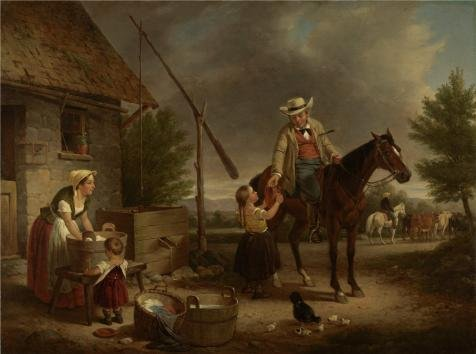 Oil Painting 'Francis William Edmonds,The Thirsty Drover,about 1856' Printing On Perfect Effect Canvas , 30x40 Inch / 76x102 Cm ,the Best Hallway Decoration And Home Artwork And Gifts Is This Best Price Art Decorative Canvas Prints