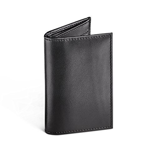 Case Leather Black Leather Crafted Wallet Small Hand Oliver Card YpxOZc