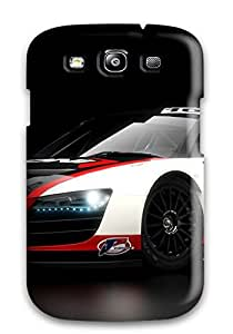 Galaxy S3 Case Cover - Slim Fit Tpu Protector Shock Absorbent Case (audi R8 Lms 3)