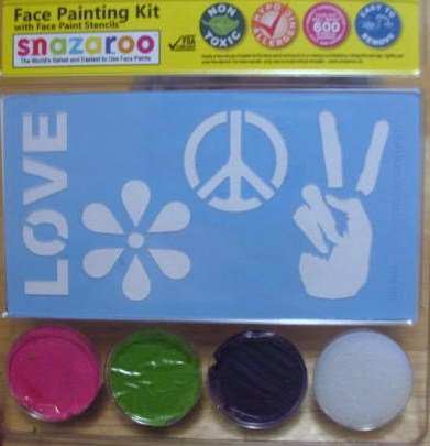 Snazaroo 60s Love and Peace Face Paint Kit with Stencils -