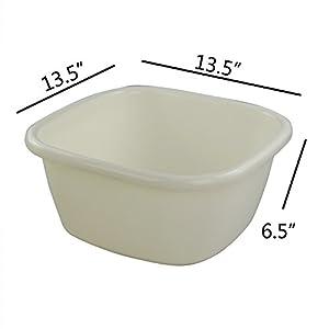 Pekky Plastic Dish Pan, Washing Basin, 2 Packs, F