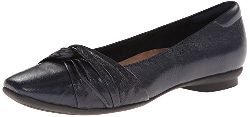 Clarks Candra Rayo Ballet Flat navy leather