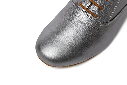 Latin Ballroom Social Solid Dance Shoes Minitoo Professional GL208 Leather Grey Men's fqUTnwIa
