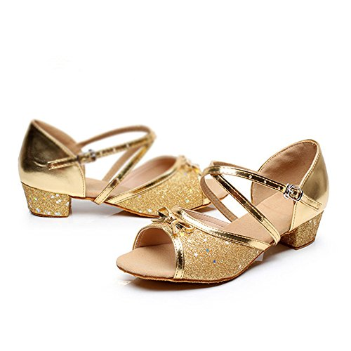 DCL - Zapatillas de danza para niña dorado