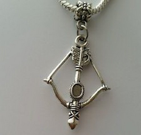 Dan Smatree The Beads Large Bow & Arrow Archery Hunting Focal Dangle Bead for European Charm - Headset Sunglasses Wish