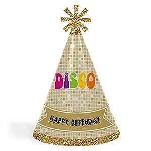 Amazon.com: 70 s Disco - Cono feliz cumpleaños fiesta ...