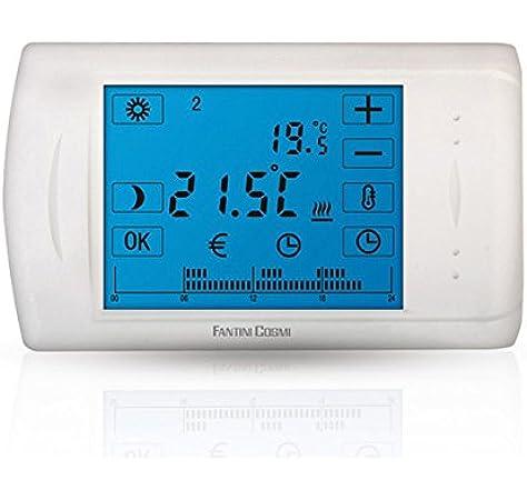 C804 cronotermostato electrónico Touch Screen a baterías Fantini Cosmi: Amazon.es: Bricolaje y herramientas
