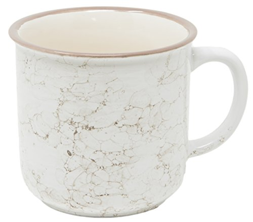 Marbled Enamel - Funny Guy Mugs Speckled Ceramic Campfire Mug, Snow Marble, 13 oz