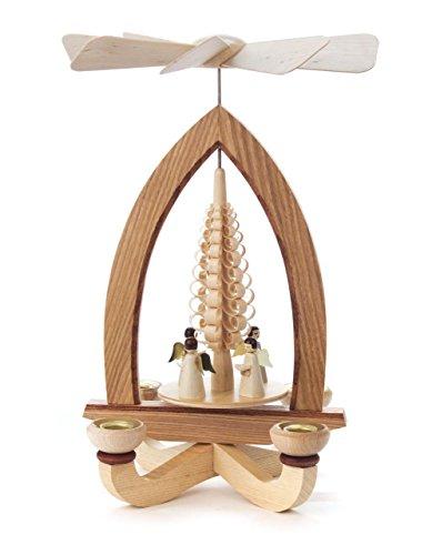 1-tier German Christmas Pyramid – German Christmas Angels – 28cm 11 inch – Dregeno Seiffen