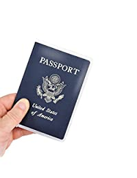 Kesoto Passport Cover Protector Case Clear Plastic Vinyl ID Card Holder, Pack of 5