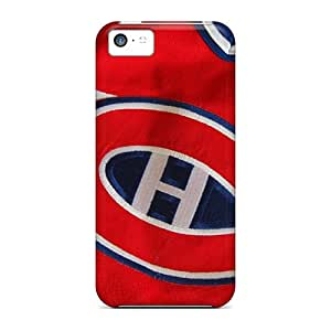 Protector Hard Phone Covers For Iphone 5c (Hrf1958pnvp) Allow Personal Design Stylish Montreal Canadiens Image