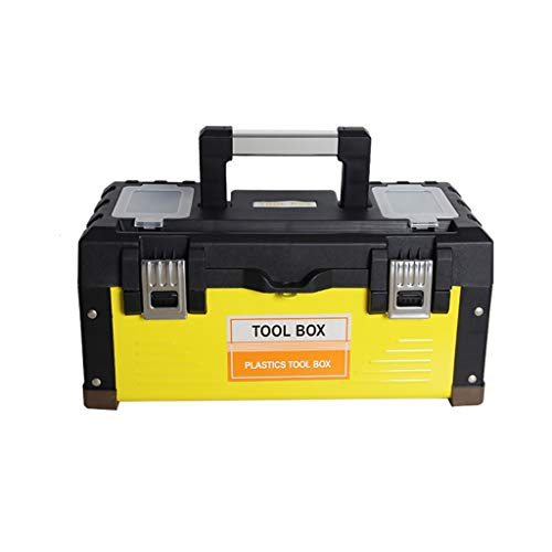 17 Cantilever Tool Box - ZSHLZG Toolbox Stainless Steel Plastic Iron Car Portable Thickening Heightening Storage Box, 14/17/19 Inches (Size : 36cm17.5cm17cm)