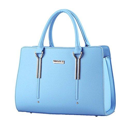 QCKJ-Lorenz-Borsa a tracolla da donna in stile europeo, in borsetta massello lettere, colore: blu