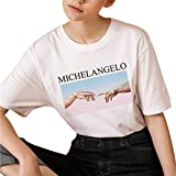 Women Blouse Plus Size Print Tees Shirt Short Sleeve T Shirt Tops for Teen Girls