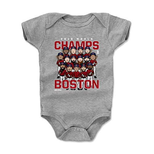 Boston Red Sox Body - 500 LEVEL Boston Red Sox Baby Clothes, Onesie, Creeper, Bodysuit - 18-24 Months Heather Gray - Boston Baseball 2018 World Champs WHT