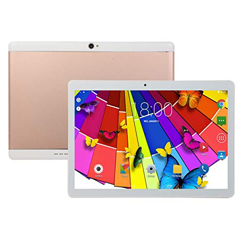 MeterMall Tablet 10.1 Inch Tablet Android 8.0 4+64GB Tablet PC with TF Card Slot and Dual Camera Rose gold UK plug