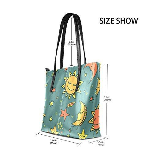 Sun modello medio donne Bag Moon tracolla Borsa le COOSUN And borse della Stars Tote e muticolour Cuoio per borsa a IxFdgfwgq