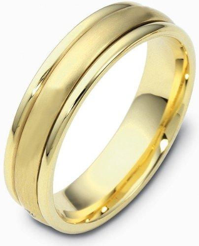 (4mm 18 Karat Two-Tone Gold Designer SPINNING Wedding Band Ring - 575)