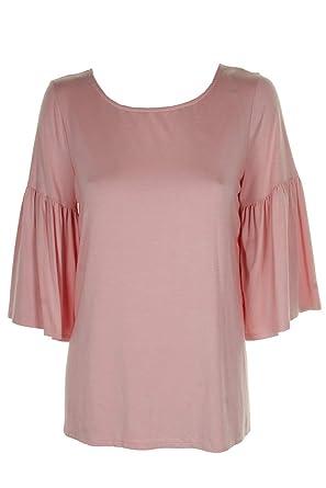 bc4694446ae Karen Kane Rose Bell-Sleeve Side-Slit Jersey Top XS at Amazon ...