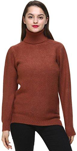 Youshunfushi Classic Fashion Women's Long Sleeve Turtleneck Knit Winter Sweater Pullover Tan (Turtleneck Sweater Tan)