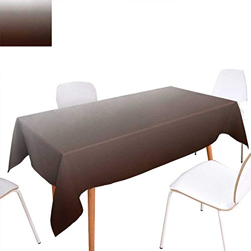 """Warm Family Ombre Printed Tablecloth Chocolate and Cream Inspired Digital Colors Ombre Design Modern Abstract Vision Rectangle Tablecloth 50""""x80"""" Brown and White from Warm Family"""