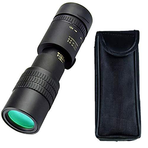10-300x40mm Monocular Telescope with Tripod Clip Optical Prism Smartphone Monocular Waterproof Adjustable Zoom Telescope…