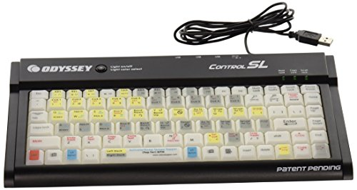 Odyssey CONTROLSL Serato/Traktor Scratch Compact Color Changing LED Backlit Keyboard -
