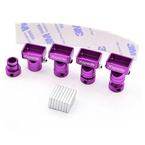- X Spede ACC29M07 Purple Stealth Magnetic Aluminum Body Mounts