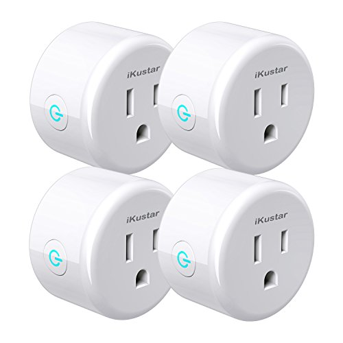 iKustar Wi-Fi Smart Plug Socket Ultra-Compact Size Outlet Compatible With Amazon Alexa Google Home Wireless Remote Control Your Devices Energy Saving Smart Socket With Timer WP5-White-4