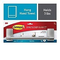 """Command by 3M 9"""" Towel Bar, Stylish Design, Easy On, Easy Off, (BATH41-SN-ES)"""