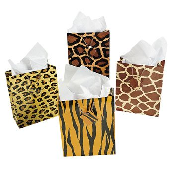 Dozen Medium Paradise Safari Gift Bags