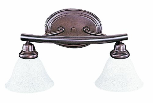 2 Mahogany Light - Framburg 8942 MB Metro 2-Light Vanity Fixture with White Marble Glass, Mahogany Bronze