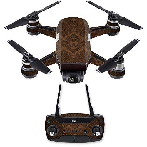 (MightySkins Skin for DJI Spark Drone & Controller - Brown Linen | Protective, Durable, and Unique Vinyl Decal wrap Cover | Easy to Apply, Remove, and Change Styles | Made)