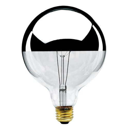 Bulbrite 712351 100G40HM 100-Watt Incandescent Half Chrome G25 Globe#44; Medium Base - Pack Of 12