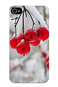 For Iphone Case, High Quality Nature Winter First Snow Red Berries Fruits Cranberry Case For Sam Sung Note 2 Cover Cases / Nice Case For Lovers