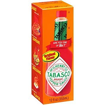 (Tabasco 12 Fl oz Original Flavor Pepper Sauce Brand)
