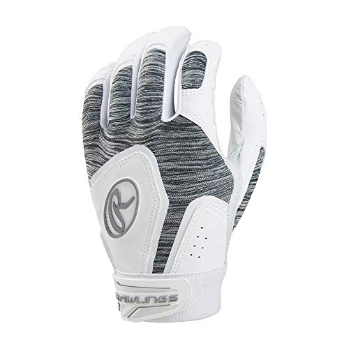 Womens Fastpitch Glove Batting (Rawlings FPWSBG-W-89 Storm Batting Gloves, White)