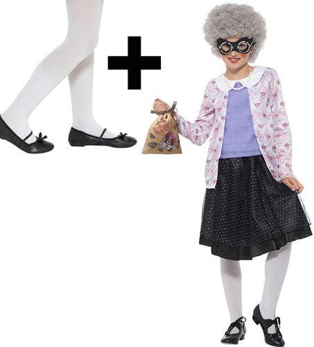MFD David Walliams Gangsta - Disfraz de Abuela para niña con ...
