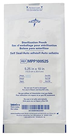 Amazon.com: Medline MPP100525GS Self Seal Surgical ...
