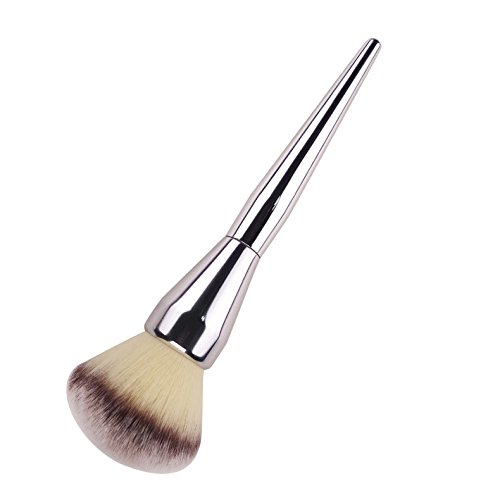Large Powder Brush, Cosmetic Makeup Brush Foundation Face Blush Loose Powder Brush Big Size Kabuki Brush Silver 20cm/7.8inch