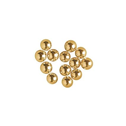 O'Creme Gold Dragees Cake Decorating Supplies for Bakers: Cookie, Cupcake &  Icing Toppings, Bright Metallic Sphere Sprinkles Decoration, Certified,