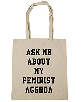 Amazon.com: Unique Bag Ask me about my feminist agenda Tote ...