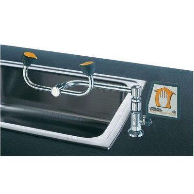 Guardian G1806 Brass Eyewash, Deck Mounted, 90 Degree Swivel, Right Hand Mounting