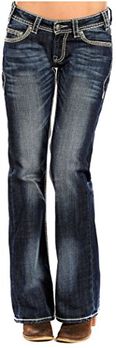 Rock Belts Roll - Rock and Roll Cowgirl Women's Riding Boot Cut in Dark Vintage Dark Vintage 25 34