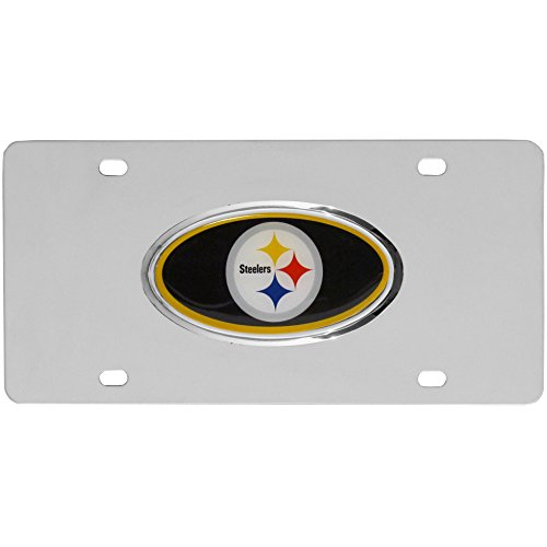 NFL Pittsburgh Steelers Steel License Plate with Raised Logo