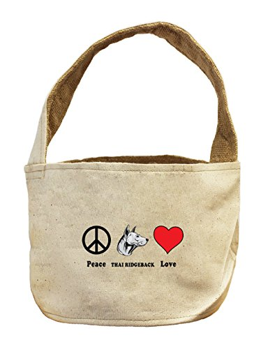 Style in Print Canvas And Burlap Storage Basket Peace Love Thai Ridgeback Dog by Style in Print