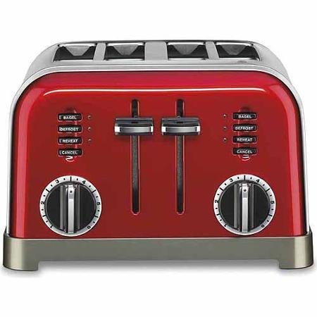 Cuisinart Metal Classic 4-Slice Toaster Red Color